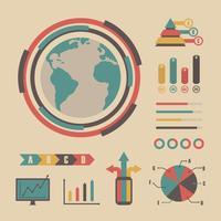 infographie graphique vintage