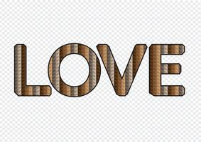 Type de police LOVE pour la Saint Valentin