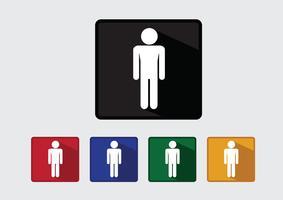 Pictogrammes icônes de personnes pour les applications mobiles Web et les signes de personnes vecteur