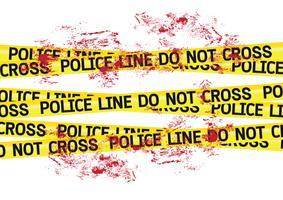 Illustration de bandes de crime scène danger vecteur
