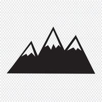 Signe de symbole icône montagnes