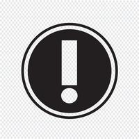 Alerte icône symbole signe