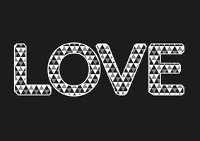Type de police LOVE pour la Saint Valentin vecteur