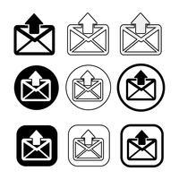 ensemble de symbole simple icône mail icône mail