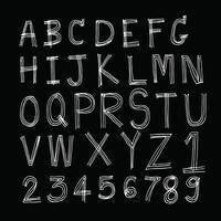 Police de lettres dessinées à la main écrite avec un stylo vecteur