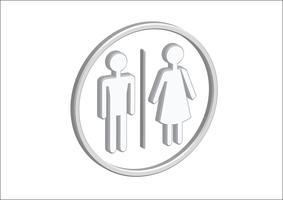 Icônes de pictogramme 3D homme femme vecteur