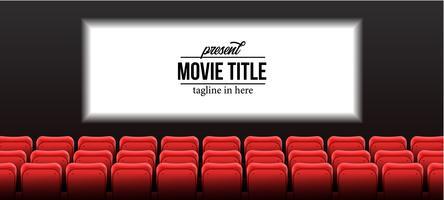 salle de cinéma avec écran vecteur