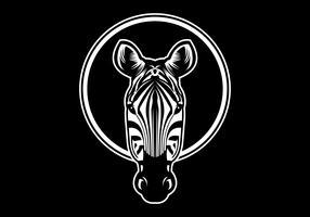 illustration vectorielle tête de zèbre vecteur