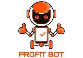 vecteur de mascotte de marketing robot