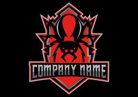 logo esport rouge vecteur