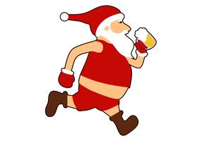 santa run bière logo vecteur