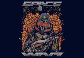 illustration vectorielle de guerre spatiale vecteur