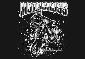 illustration vectorielle de motocross sport challenge vecteur