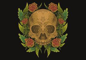 illustration vectorielle de crâne décoration vecteur