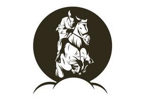illustration vectorielle de saut de cheval vecteur
