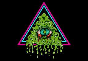 illustration vectorielle saignant illuminati