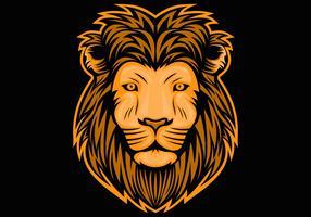 illustration tête de lion vecteur