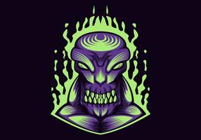 illustration vectorielle monstre violet vecteur