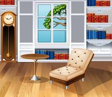 Salon entièrement meublé