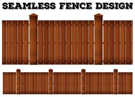 Conception de clôture en bois sans soudure