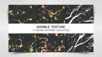 Texture marbre, ensemble Premium de la collection de modèles de vecteur. vecteur