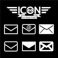 courrier icône symbole signe