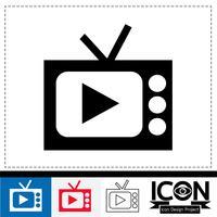 signe de symbole icône tv