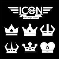 Symbole de couronne icône vecteur