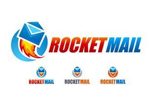 logo de courrier de fusée