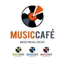 musique café logo vecteur