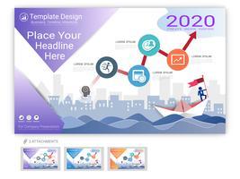 Vecteur modèle de site Web défini pour la conception de pages Web ou la présentation de l'entreprise.