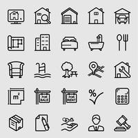 Icône de ligne immobilière