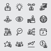 Icône de ligne de gestion d'entreprise vecteur
