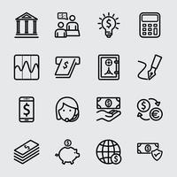 Icône de ligne bancaire vecteur