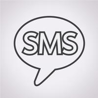 Signe de symbole icône SMS vecteur