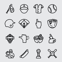 Icône de ligne de baseball vecteur