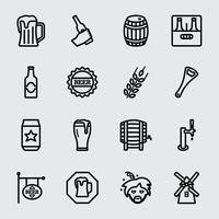 Icône de ligne de bière vecteur