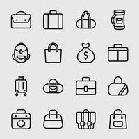 Icône de ligne de sac vecteur