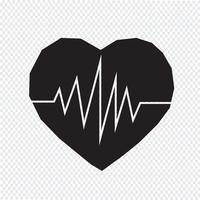 signe de symbole icône battement de coeur vecteur