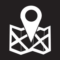 signe symbole icône emplacement
