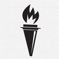 signe de symbole icône torche