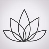 signe de symbole icône lotus vecteur