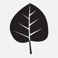 Symbole de feuille icône