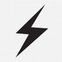 symbole de foudre icône symbole vecteur