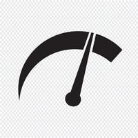 tachymètre icône symbole signe vecteur