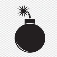 Signe de symbole icône bombe vecteur