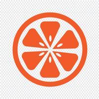 Signe symbole icône orange