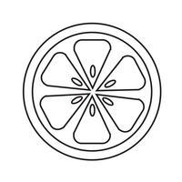 Signe symbole icône orange vecteur