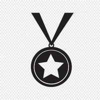 signe de symbole icône médaille vecteur