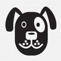 Signe de symbole icône chien